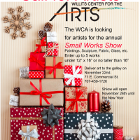 Call for Small Works Show Artists and Holiday Crafts Faire Vendor Opportunities